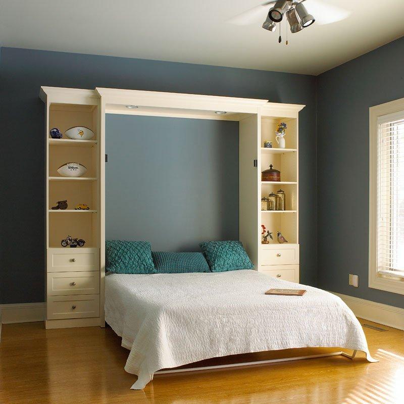 Фото кровать шкаф